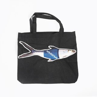 WHAT FISH Wax Splashproof Fish Baby Eco Tote - Dark Blue