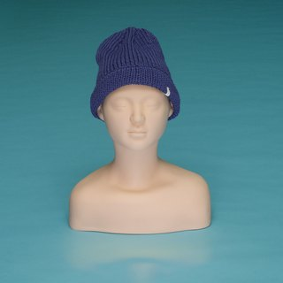 over the basic ♦ plain - blue-violet OTB015 hand-woven wool caps