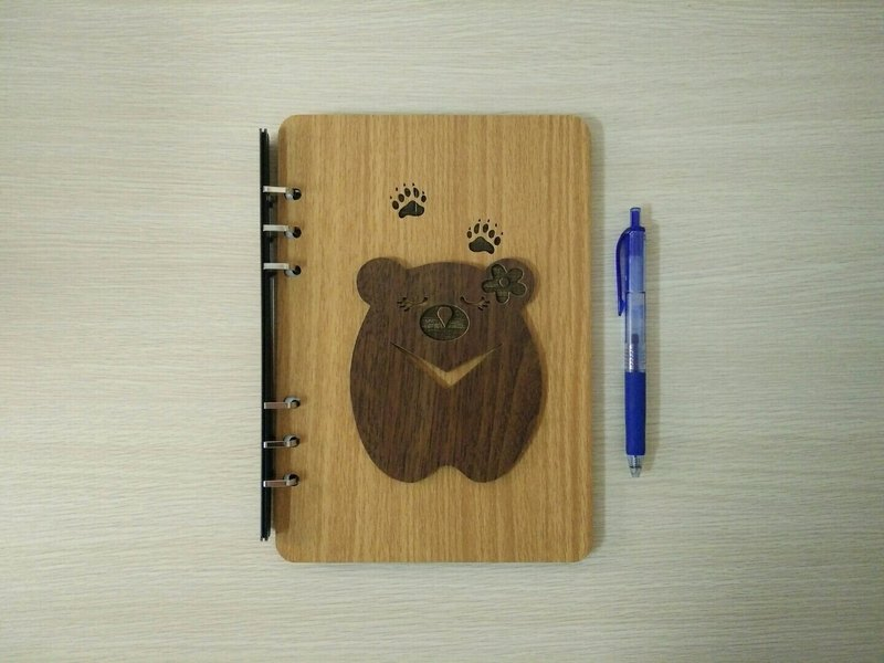 Taiwan stack [customization - color and pattern can be replaced] A5 two loose-leaf 6-hole notebook - V word Taiwan bear notebook / album / stationery / folders / gifts / gifts