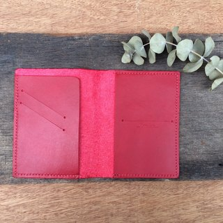 [ My Journey Collection ] Personal Leather Passport Case / Passport Holder | Red