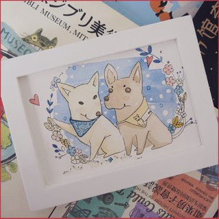 ◆ SS. Yan Feng Hua @ 7 inch pet (Q version style) watercolor hand-painted photo cartoon animal painting