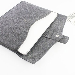 Custom-made dark gray felt computer case laptop bag computer bag MacBook 15吋071