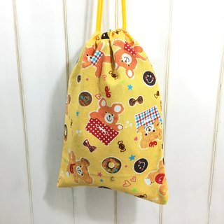 ✎ Breath-style universal bag / storage bag / travel bag / indoor shoe bag | happy bear donut