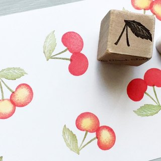 Cherries eraser stamp & stamp set