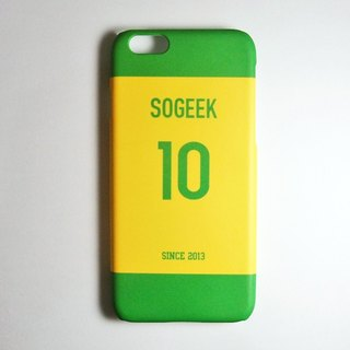 SO GEEK phone shell design brand THE JERSEY GEEK shirt back number custom made 055