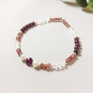 MH sterling silver natural stone custom series _ Acacia _ garnet