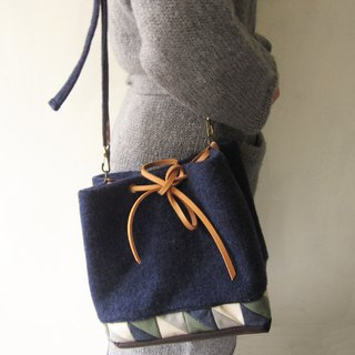 *Star Night Blue*patchwork bucket bag