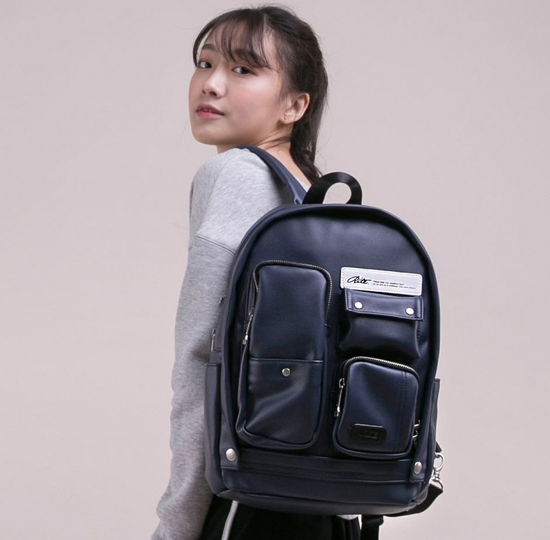 [Chinese Valentine's Day gift 25 fold] 2018 twin series - fantasy scarecrow bag - leather blue