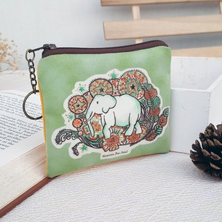 <Animals in the secret land> Elephant graffiti coin purse (small size)