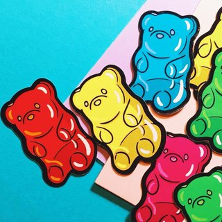 Gummy candy side - combination / stickers