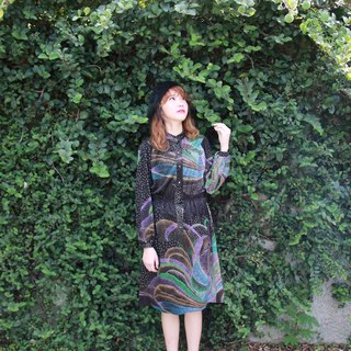 Back to Green:: 繽紛極光 vintage dress (D-36)