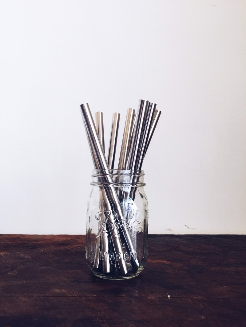 304 Food Grade Stainless Steel Straw - Thick (Removable Large Wave Pearl)