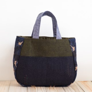 Tote - Green x Black EH103