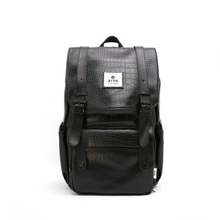 [Twin Series] 2018 Advanced Edition - Traveler Backpack (Large) - Black Crocodile