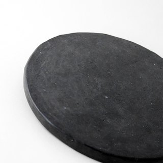 [Cold porcelain coasters] black / handmade / natural materials
