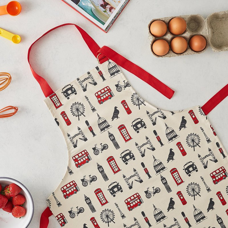 British Egg Cotton Children Apron Classic London