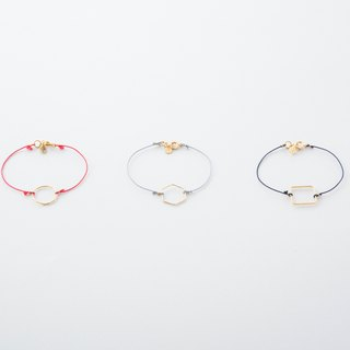 Kika × Kimihagami Bracelet / Kumihimo with Geometry ring Bracelet