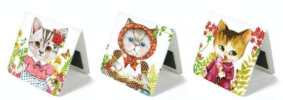 & Cabinet magnet bookmark - Cats in Garden