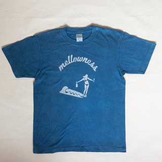 Indigo dyed Aizen - mellowness TEE