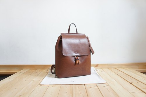 Handmade Leather Backpack Rucksack Large size School Bag Minimalism