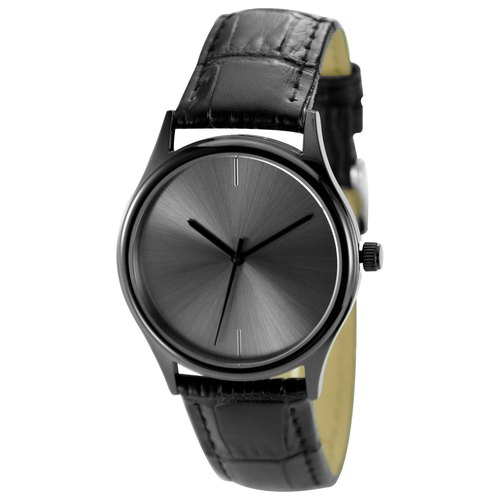 Christmas gift Minimalist Watch Sunray Dial Black Free Shipping Worldwide