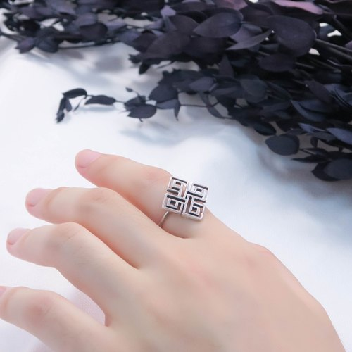 Customized window ring 925 sterling silver ring -ART64