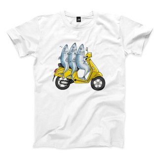 Squeezing Sardines - White - Neutral T-Shirt