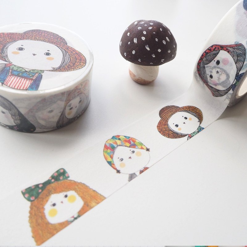 Cute your paper tape / buns Miss / hand account / collage