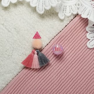 Little triangle with fringe (Pink)