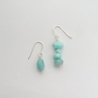 Natural stone series | Amazonite stone of hope silver earrings