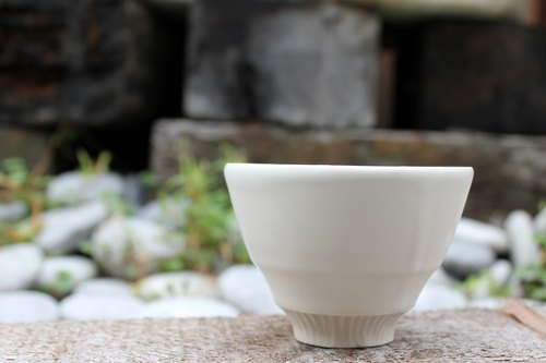 Pure white series - opaque white glaze cups cups cups ceramic cups tea seats handmade