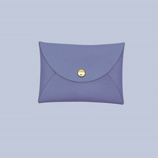 Customized hot leather macaron purple card holder / wallet / card holder / card case
