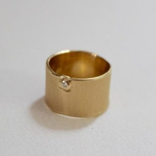 Simple silver ring (gold color)
