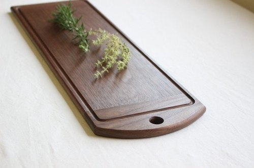 Long and narrow cutting board,  Black Walnut