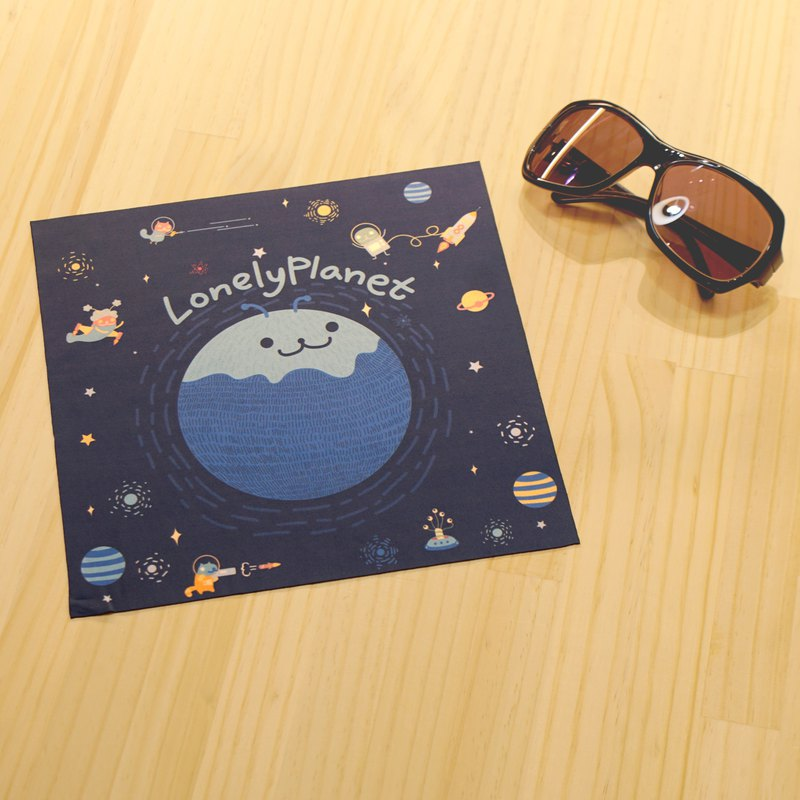 [Christmas small things] glasses cloth - space travel