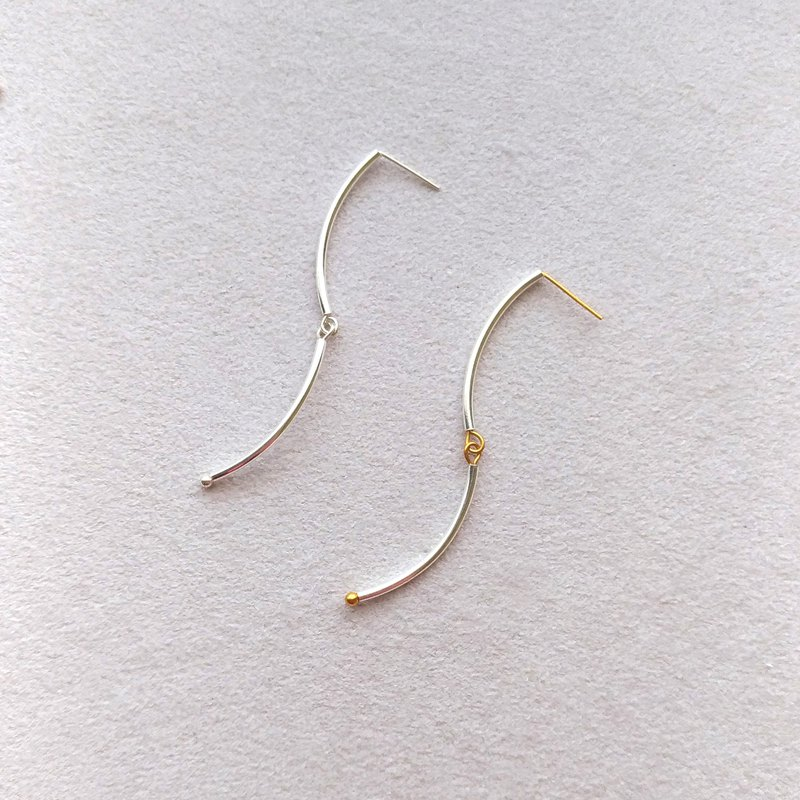 E035-wind-sterling silver earrings