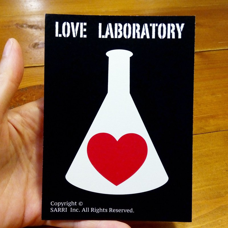 Love Lab (A3-size poster can be produced) Birthday Card Design Coloring Illustrator Picture Card Universal Card Art Love Special Funny Strange Feature Weird Cute Taiwan