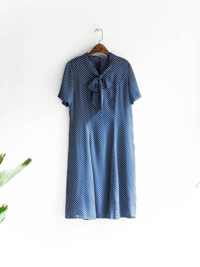 Heshui Mountain - Toyama Deepwater Blue Dot Clear Water Jade Antique Silky Dresses overalls oversize vintage dress