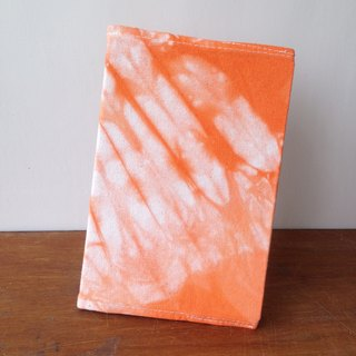 Hand-dyed tie-dyed canvas book cover