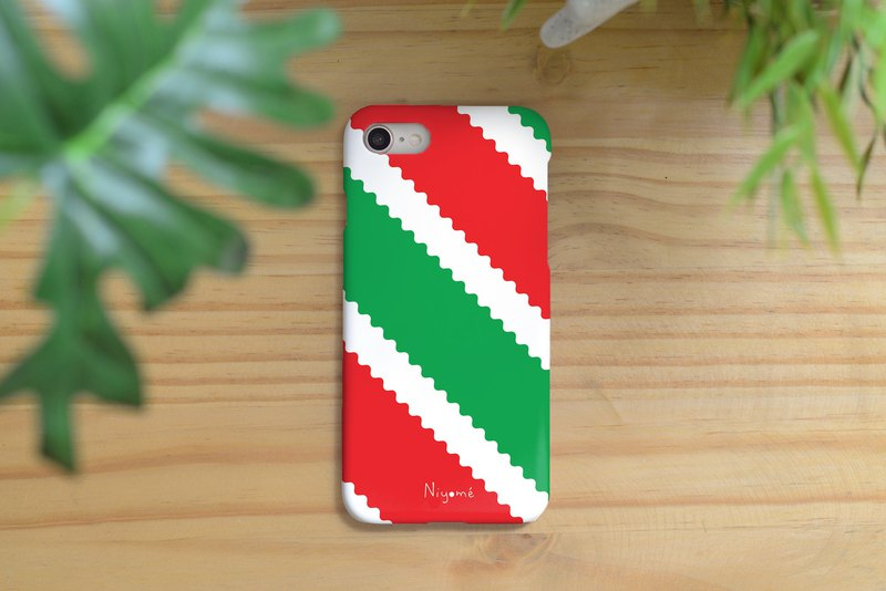 zigzag green and red iphone case สำหรับ iphone7 iphone 8 iphone 8 plus iphone x