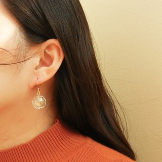 *coucoubird*Dandelion Double Hole Glass Earrings