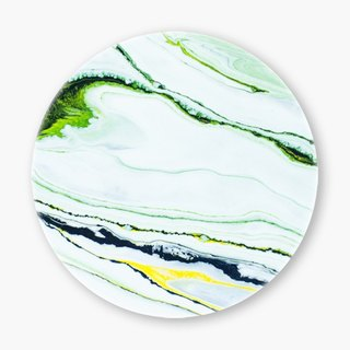 Snupped Ceramic Coaster - 陶瓷杯墊 - Marbled strokes