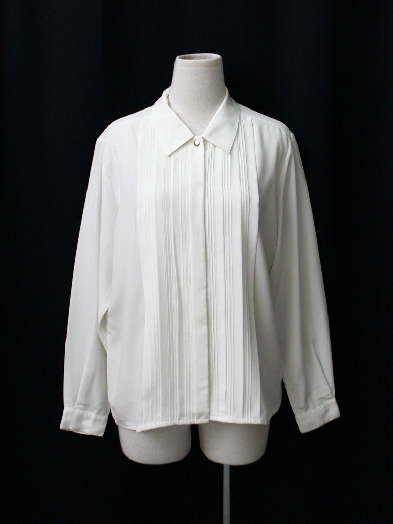 [RE0407T1936] retro simple loose white vintage blouse