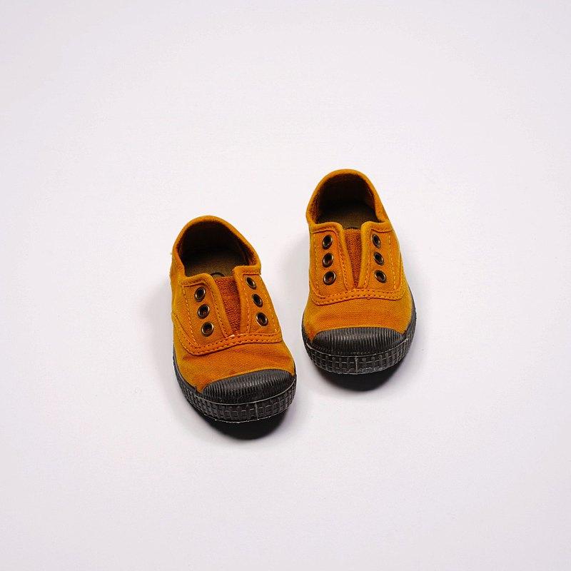 西班牙國民帆布鞋 CIENTA U70777 43 土黃色 黑底 洗舊布料 童鞋