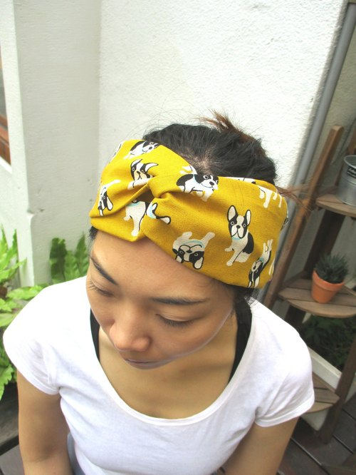 Cross hair band (elastic hand) - dark yellow fights