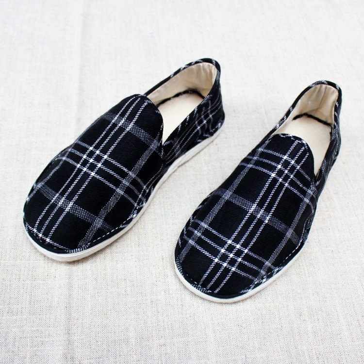 [Spot] Melaleuca handmade cloth shoes Plaid