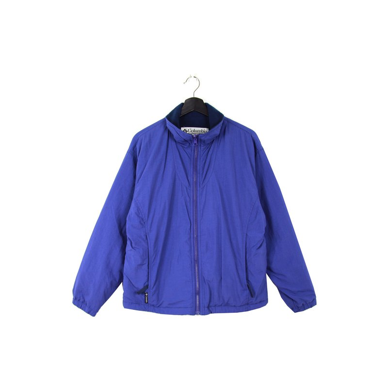 Back to Green :: Windbreaker Cotton Jacket Columbia Indigo // Unisex // vintage outdoor (CO-01)