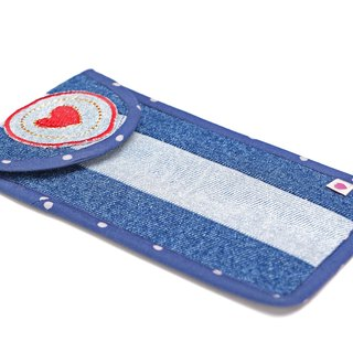 Heart is Your Angel Denim Pouch