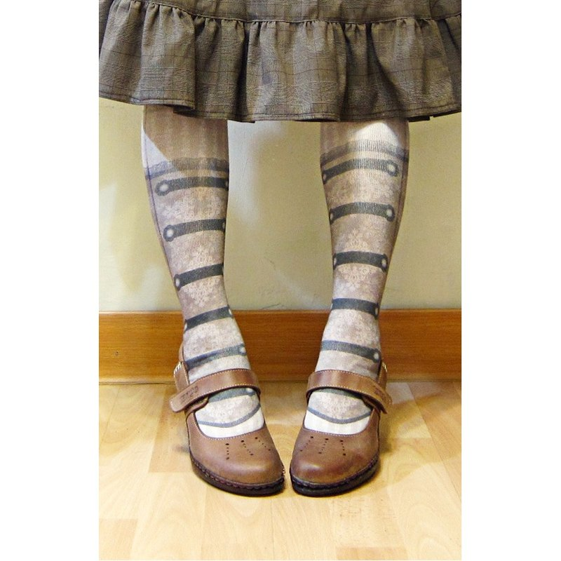 Steam punk socks _Steampunk printing double-breasted