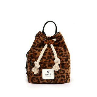 [RITE] Le Tour Series - Dual-use Boxing Small Backpack - Coffee Leopard